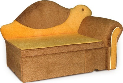 Прямой диван Черепашка вид сбоку