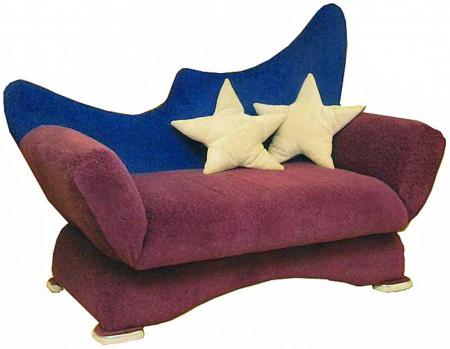 Прямой диван Ле-ля вид сбоку