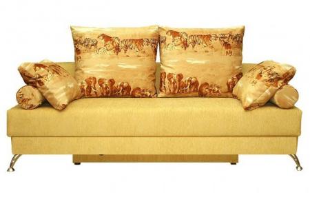 Прямой диван Франческа вид спереди