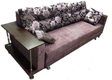 Прямой диван Винтаж вид слева