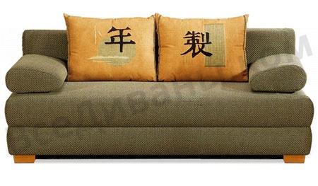 Прямой диван Шанхай вид спереди