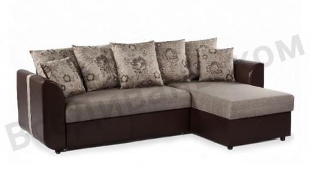Угловой диван  Филадельфия коричневый