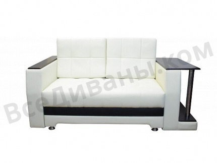 Прямой диван Атланта Мини со столиком вид с переди