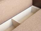 Прямой диван Газго . Ящик для белья