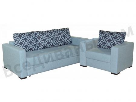 Прямой диван Джерман-1 вид с переди