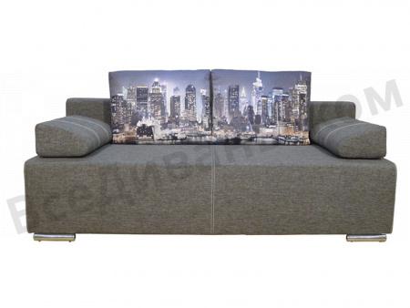 Прямой диван Сити (Бостон 2) вид спереди