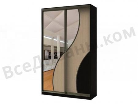 Двухдвердный шкаф-купе Аурум-2 вид спереди