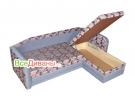 Угловой диван  Альвис-2 ящик для белья