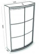 Радуга-600 двухдверный (выпуклый)