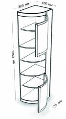 Ассиметричный с двумя дверями