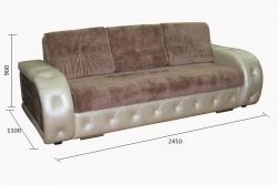 Прямой диван Брайт-люкс