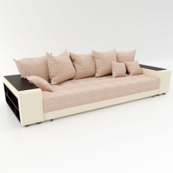Прямой диван Дубай бежевая рогожка, вариант 2