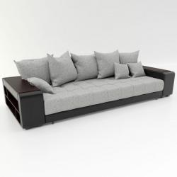 Прямой диван Дубай серая рогожка