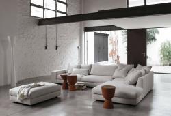 Угловой диван  Крокус с пуфом