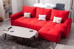 Прямой диван Тринити с пуфом