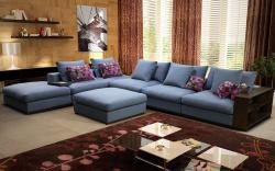 Угловой диван  Лакоста с пуфом
