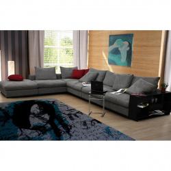 Угловой диван  Лемар с пуфом