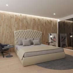 Мягкая кровать Барселона Эко Беж