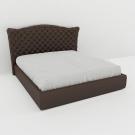 Мягкая кровать Аризона Эко Браун
