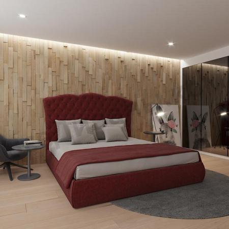 Мягкая кровать Барселона Вельвет 09