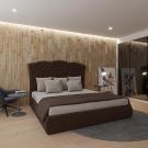 Мягкая кровать Барселона Вельвет 08
