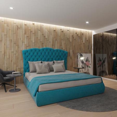 Мягкая кровать Барселона Шагги Азур