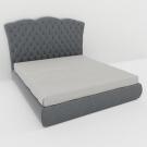 Мягкая кровать Барселона Грей