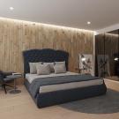Мягкая кровать Барселона Шагги Графит