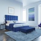 Мягкая кровать Джерси Вельвет 29