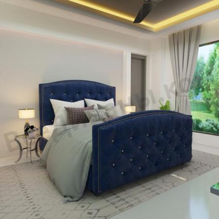 Мягкая кровать Верджиния Вельвет 29