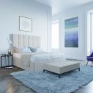 Мягкая кровать Джерси Вельвет 23