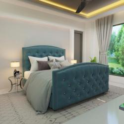 Мягкая кровать Верджиния Гэлакси блю