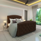 Мягкая кровать Верджиния Вельвет 08