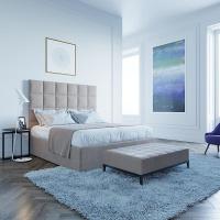 Кровать Мягкая кровать Джерси Шагги Беж