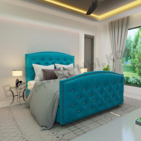 Мягкая кровать Верджиния Шагги Азур