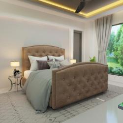 Мягкая кровать Верджиния Шагги Беж