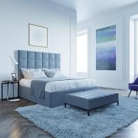 Кровать Мягкая кровать Джерси Шагги Грей