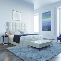 Кровать Мягкая кровать Джерси Эко Беж