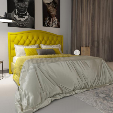 Мягкая кровать Флоренция Yellow