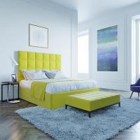 Кровать Мягкая кровать Джерси Yellow