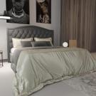 Мягкая кровать Флоренция Шагги Графит