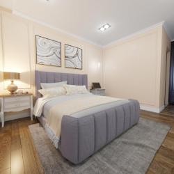 Мягкая кровать Небраска Вельвет 92