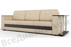 Прямой диван Атланта-Люкс Комфорт Модель 2 со столиком